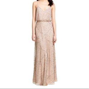 Adrianna Papell Sequin Blouson Dress